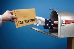 De Terugbetaling van de belasting Stock Foto