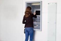 De Terugtrekking van het contante geld Stock Foto's