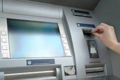 De terugtrekking van het contante geld Stock Afbeeldingen