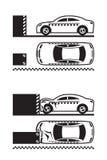 De test van de autoneerstorting stock illustratie