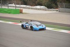 De test van Lamborghini Huracà ¡ n GT3 2016 in Monza Stock Foto's