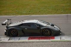 De test van Lamborghini Huracà ¡ n GT3 2016 in Monza Stock Foto