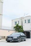 De testaandrijving van Audi S8 in Hong Kong Stock Fotografie