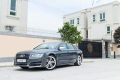 De testaandrijving van Audi S8 in Hong Kong Royalty-vrije Stock Foto