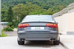 De testaandrijving van Audi S8 in Hong Kong Royalty-vrije Stock Fotografie