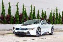 De testaandrijving van BMW i8 2014 Stock Afbeeldingen
