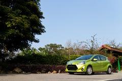 De Testaandrijving van Toyota Prius C 2015 Stock Foto
