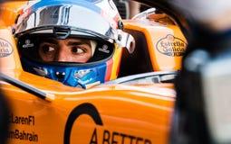 De Testdagen 2019 van Formule 1 - Carlos Sainz stock fotografie