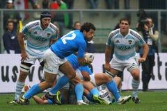 De testgelijke 2010 van het rugby: Italië versus Argentinië (16-22) Royalty-vrije Stock Foto's