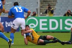 De testgelijke 2010 van het rugby: Italië versus Australië Stock Afbeelding