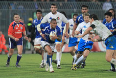 De testgelijke Italië van het rugby versus Samoa; Tuilagi Stock Fotografie