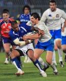 De testgelijke Italië van het rugby versus Samoa; Zanni Royalty-vrije Stock Foto's