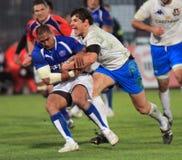 De testgelijke Italië van het rugby versus Samoa; Zanni Stock Foto