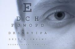 De testgrafiek van het oog Stock Foto