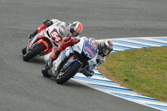 De tests van het pre-seizoen in Jerez (Spanje) Stock Foto's