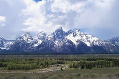 De Teton-Bergen dichtbij Jackson Hole Wyoming stock fotografie