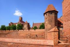 De teutonic Ridders geven opdracht tot kasteel in Malbork, Polen Royalty-vrije Stock Foto