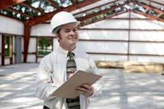 De Tevreden Inspecteur van de bouw - Royalty-vrije Stock Foto's