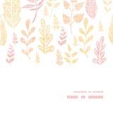 De textiel geweven daling verlaat horizontaal kader Royalty-vrije Stock Fotografie