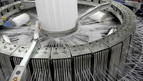 De textiel industrie stock video