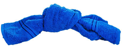 De textiel van de badhanddoek in knoop Stock Afbeelding