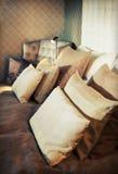 De textiel van het bed Stock Foto's
