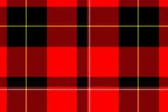 De textiel van het geruite Schotse wollen stof vector illustratie