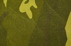 De textieltextuur van de camouflagedoek Stock Foto's