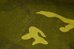 De textieltextuur van de camouflagedoek Stock Afbeelding
