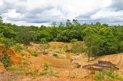 De texturen van de grond in Thailand Stock Fotografie