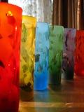 De Texturen van de Kleuren n van het glas Royalty-vrije Stock Foto