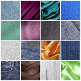De texturen van de stof Stock Foto