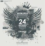 De texturen van Grunge Abstracte grungeaffiche als achtergrond voor partij Royalty-vrije Stock Afbeeldingen