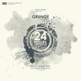 De texturen van Grunge Abstracte grungeaffiche als achtergrond voor partij Stock Foto's