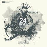De texturen van Grunge Abstracte grungeaffiche als achtergrond voor partij Royalty-vrije Stock Afbeelding