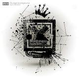 De texturen van Grunge Abstracte vectorgrungeaffiche als achtergrond voor partij Grungedruk voor t-shirt Abstracte vuilachtergron Royalty-vrije Stock Fotografie