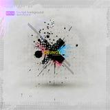 De texturen van Grunge Abstracte vectorgrungeaffiche als achtergrond voor partij Grungedruk voor t-shirt Abstracte vuilachtergron Royalty-vrije Stock Foto