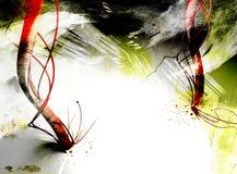 De texturen van Grunge met 3D elementen Stock Afbeelding