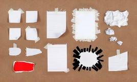 De texturen van het document Stock Afbeeldingen