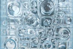 De textuur abstract patroon van het vensterglas voor achtergrond Stock Afbeelding