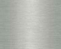 De geborstelde Textuur van het Metaal Stock Fotografie