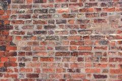 De textuur archaïsch kleurrijke mooi van de steenbakstenen muur stock foto
