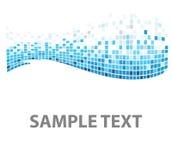 De textuur blauwe vissen van vierkanten Stock Afbeeldingen