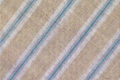De textuur dichte omhooggaand van de strepenstof Stock Afbeelding