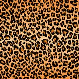 De textuur die van het luipaardpatroon de naadloze oranje zwarte huid van de bontdruk herhalen vector illustratie