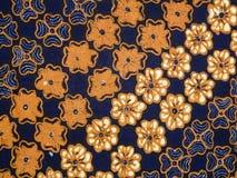 De textuur en de achtergrond van de batikdoek Stock Afbeelding