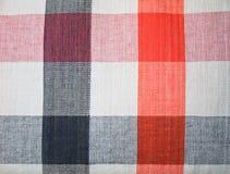 De textuur en het patroon van de stof Stock Fotografie