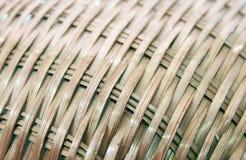 De textuur en het patroon van de stromand Royalty-vrije Stock Afbeeldingen