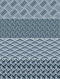 De textuur naadloze patronen van het metaal Royalty-vrije Stock Afbeelding