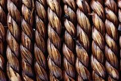 De textuur natuurlijk rijs van het Handcraftweefsel Stock Foto's